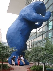 Big Blue Bear at Conference Centre